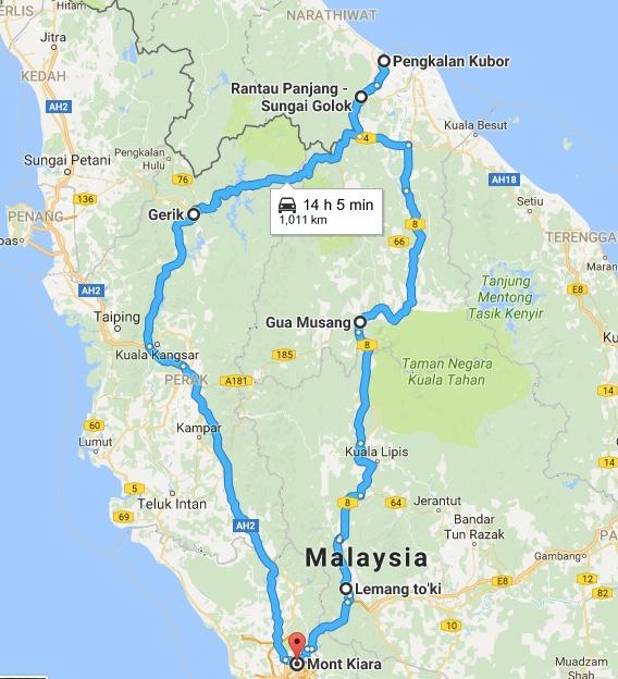 Kota Bharu Ride Map